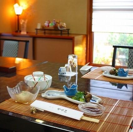 日本料理テーブル