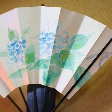 紫陽花扇子
